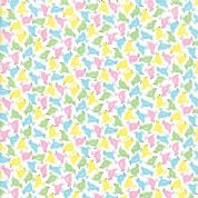 Moda - Good Day  - 6794 - Scattered Multicoloured Songbirds on White - 22374 11 - Cotton Fabric